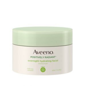 Aveeno Positively Radiant Overnight Hydrating Facial Moisturizer