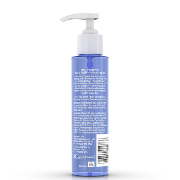 Neutrogena Ultra Light Face Cleansing Oil 118ml