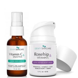 Dewy Skincare Vitamin C Serum + Rosehip Moisturizer