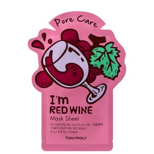 TONY MOLY I`m Real Red Wine Pore Care Sheet Mask 2pc