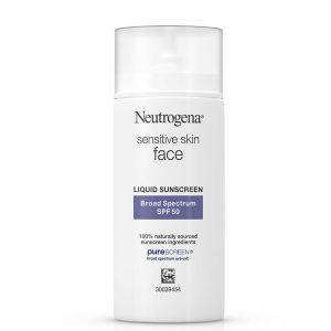 Neutrogena Sensitive Skin Liquid Face Sunscreen SPF50