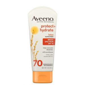 Aveeno Protect + Hydrate Face Sunscreen SPF 70