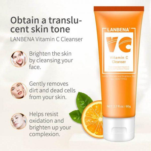 Lanbena Vitamin C Skin Brightening Foam Cleanser 80ml