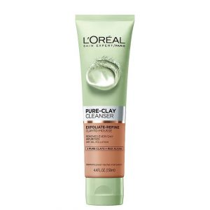 L'Oreal Pure Clay Cleanser Exfoliate & Refine 130ml