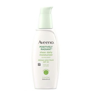 Aveeno Positively Radiant Sheer Daily Moisturizer SPF30 73ml