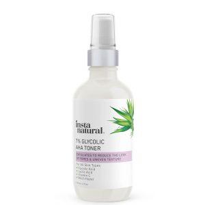 InstaNatural 7% Glycolic Acid AHA Toner 120ml